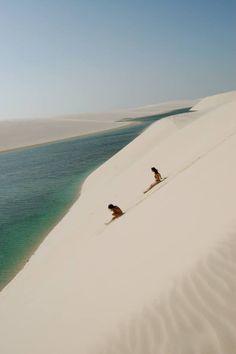 Les dunes du parc national des Lençois Maranhenses #Bresil