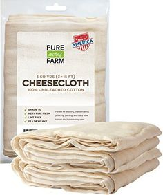 Cheesecloth  45 Sq Feet Grade 50  100 Unbleached Cotton  Filter  Strain  Reusable 5 Yards 50 Weight * Check this awesome product by going to the link at the image.