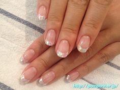 Glitter feeling pretty nail design