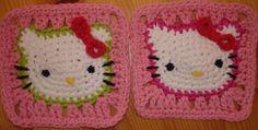 Hello Kitty granny squares