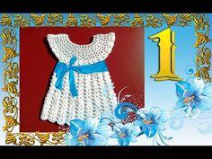 Детское платье от 6-12 месяцев. Часть №1. Кокетка.(Children's dress from 6-12 months.) - YouTube