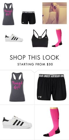 """""""Lyla's Gym Clothes"""" by tiff-fowler ❤ liked on Polyvore featuring Lorna Jane, adidas, Zensah and NIKE"""