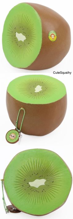 Puni Maru, soft Cheeki's Jumbo Kiwi sponge squishies, slow rising, , for a gift etc. Giant Squishies, Silly Squishies, Balle Anti Stress, Kawaii Gifts, Stress Relief Toys, Anime Dolls, Jute Twine, Paper Tags, All Things Cute