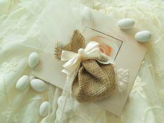 Wedding Favor   Burlap bag