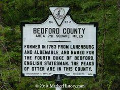 virginia beach bedford county virginia history | Bedford County Z-66 | Marker History