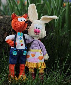 Crochet Patterns  FOX & BUNNY  Vasilik and от AtelierHandmadecom http://amzn.to/2kgkgLT