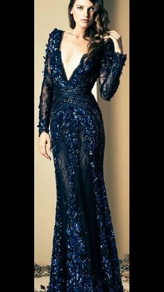 Midnight Blue Gorgeous Gown ♥ where do you where something like this? Stunning