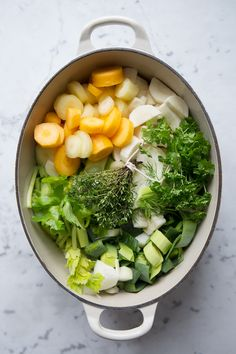 Homemade vegetable broth: Photographed and styled by Sonja Dahlgren