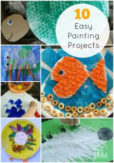 From your smallest to your tallest our 10 Easy Painting Projects are perfect for kids of all ages to enjoy doing together.