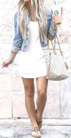 fashion 25 Popular Spring Outfits To Inspire You Cool Summer Outfits, Cute Casual Outfits, Spring Outfits, Outfit Summer, White Outfits, Cute Fashion, Look Fashion, Fashion Outfits, Womens Fashion