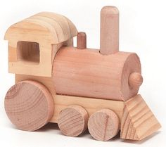 "wood toy train kit - 3.75"" x 4.25"" x 1.75"""