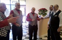 Lathering it up with a serenade from Atlanta's finest barbershop quartet.