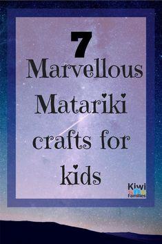 7 Marvellous Matariki crafts for kids. Here are 7 Matariki star crafts to do with your children. Book Crafts, Crafts To Do, Crafts For Kids, Nanny Activities, Craft Activities, Art Maori, Kanban Crafts, Weaving For Kids, Food Art For Kids