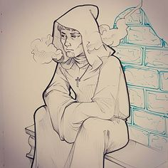 #RPG #Sunday : Augustin thinking. The murder of this morning was a real trauma. What can we do about it ? #cthulhu #darkage #wall Support my work on #Patreon : https://ift.tt/1RqclZE