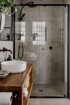 Bad Inspiration, Bathroom Inspiration, Bathroom Styling, Bathroom Interior Design, Industrial Bathroom Design, Bathroom Designs, Interior Ideas, Interior Inspiration, Interior Modern
