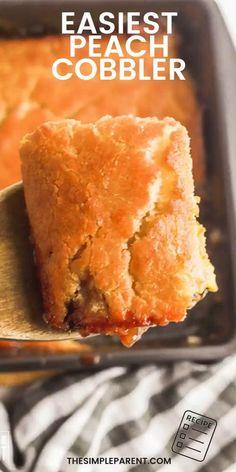 Frozen Peach Cobbler Recipe, Peach Cobbler With Bisquick, Fresh Peach Cobbler, Apple Cobbler, Recipes With Canned Fruit, Can Peaches Recipes, Bisquick Cobbler Recipes, Peach Cobblers, Easy Baking Recipes