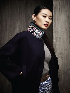 Fantastic embroidered collar on this Shanghai Tang coat (from AW 2012 Lookbook): www.shanghaitang.com