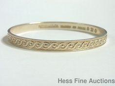 Genuine Tiffany Vintage Chased Pattern Sterling Silver Bangle Bracelet #TiffanyCo