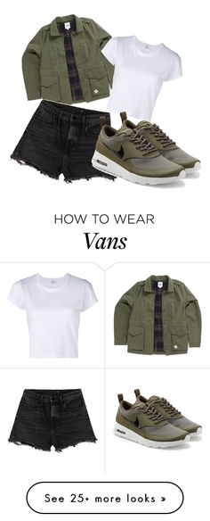 """""""The chill"""" by peaches-743 on Polyvore featuring Vans, Alexander Wang, RE/DONE and NIKE"""