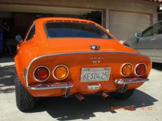Orange Opel GT ~ My Mom had this car - loved it! Opel Gt, Engin, Photoshop, Weird Cars, New Trucks, Old Cars, Custom Cars, Cars And Motorcycles, Cars For Sale
