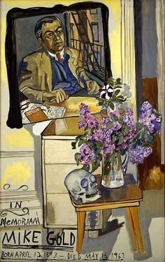Alice Neel - 1967, Mike Gold in Memoriam Oil on Canvas 54 x 34 inches / 137.1 x 86.3 cm Private Collection