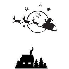 Darice® Embossing Folder - Santa Sleigh x scrapbooking, card making, greeting cards, invitations and Christmas Drawing, Christmas Svg, Christmas Printables, Christmas Holidays, Christmas Decorations, Christmas Ornaments, Santa Sleigh Silhouette, Reno, Embossing Folder