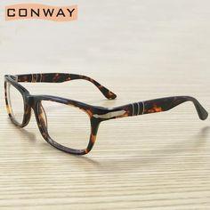 Conway Classic Rectangular Glasses Frame Non Presription Glasses Frame Clear Lens Eyewear for Men Women Unbreakable Acetate _ - AliExpress Mobile Johnny Depp Glasses, Men's Eyewear, Mens Glasses, Glasses Frames, Lens, Classic, Accessories, Women, Derby