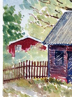 Kyrkstallet (detalj), akvarellmålning av Alicia Sivertsson - www.aliciasivert.se Arches, Painting, Art, Art Background, Painting Art, Kunst, Arch, Paintings, Performing Arts