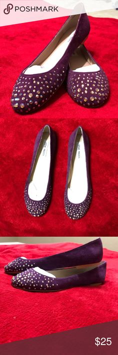 6a9d8d3f176 Steve Madden Purple Flats size 9 Super cute size 9 Steve Madden flats BRAND  NEW WOT material feels like suede. These flats will complete your outfit  with ...