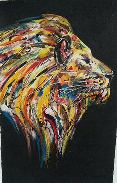 Lion Painting - Original Acrylic on Canvas