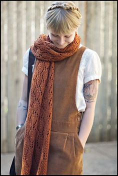 Ravelry: Autumn Leaves Stole pattern by Jared Flood