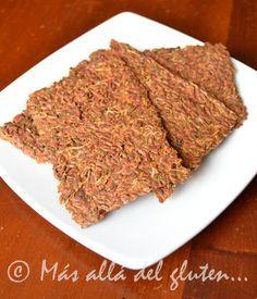 Más allá del gluten...: Crackers de Linaza con Verduras (Receta GFCFSF, Vegana, RAW) Sin Gluten, Gluten Free, Veg Recipes, Empanadas, Raw Vegan, Meatloaf, Grain Free, Finger Foods, Crackers