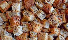 Toasted Homemade Bread Cubes