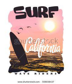 California surf typography, t-shirt graphics vectors. California surf typography, t-shirt graphics v Surf Design, Logo Design, Beach Sketches, Malibu Surf, Surf Logo, California Surf, Shirt Print Design, Beach Art, Creative Design