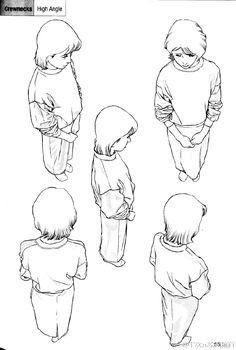 #绘画参考# 嗷ヽ(*´∀`)ノ人物不同角度的动态... 来自半次元绘画频道 - 微博