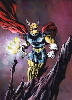 Beta Ray Bill by Mike McKone, in Wesley Dupont's Asgardians Comic Art Gallery Room Marvel Dc, Marvel Comic Universe, Comics Universe, Marvel Heroes, Captain Marvel, Comic Book Artists, Comic Books Art, Comic Art, Marvel Comic Character