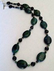 Beautiful Phoenix and Azetite Stone Necklace Set