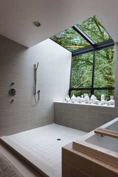 This beautiful bathroom with walk-in shower, designed by Skylab Architecture, is sure to inspire your next bathroom remodel or renovation, via @sarahsarna.