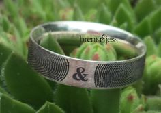 You&Me Forever Fingerprint Wedding Ring in Sterling by fabuluster