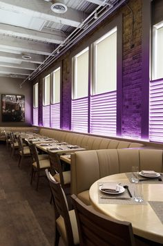 Inside Kabocha restaurant in Chicago - Lighting Design by Katie Possley | Light Channel RGB by Edge Lighting