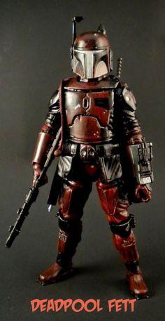 Deadpool Fett (Star Wars) Custom Action Figure