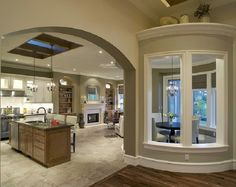 I think that might even be a sky light over the island of this kitchen! #kitchen #home #decor
