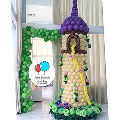 Arco, Rapunzel, torre, compleanno, evento, particolare