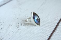 Stunning labradorite ring from out solid sterling silver range