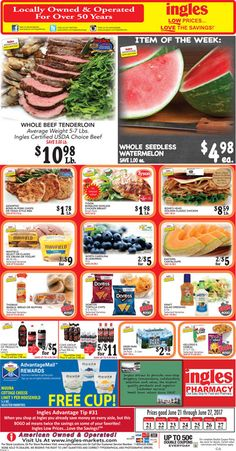 Ingles Weekly Ad June 21 - 27, 2017 - http://www.olcatalog.com/grocery/ingles-weekly-ad.html