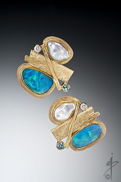 """Isabelle Posillico Jewelry : """"Sea View"""" earrings."""