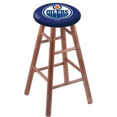 "Holland Bar Stool NHL 36"" Bar Stool with Cushion Finish: Medium, NHL Team: Edmonton Oilers"