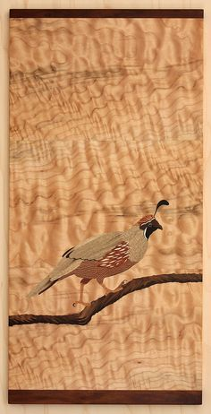 Caille I Quail Marquetry