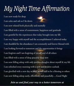 My Night Time Affirmation