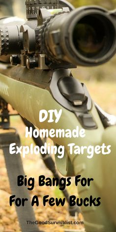 These DIY homemade exploding targets will provide you with quite a big bang for your buck. also in a survival situation you could use them to divert potential attackers attention away from you. http://www.thegoodsurvivalist.com/diy-homemade-exploding-targets-big-bangs-for-a-few-bucks/